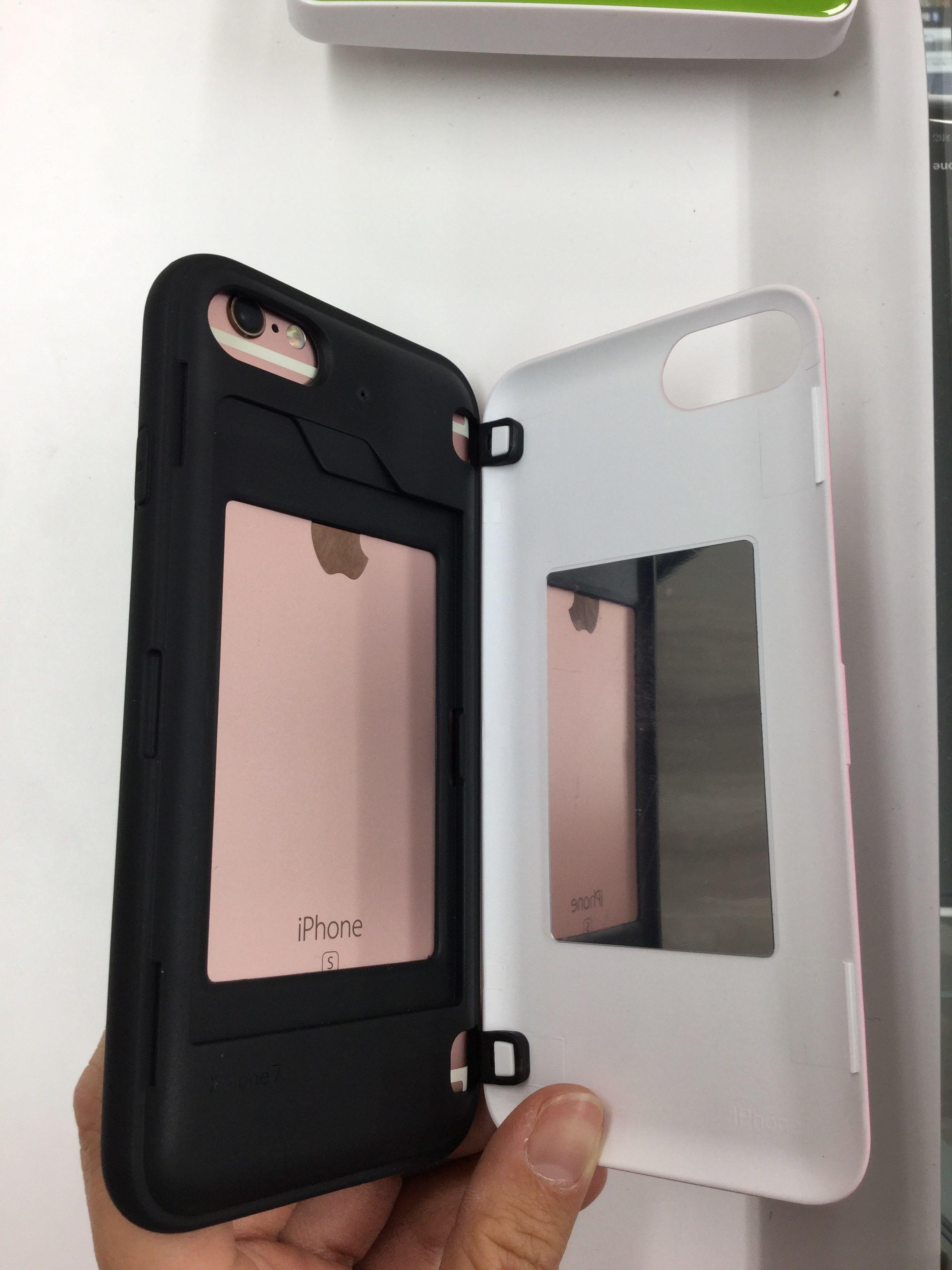 背面型 ICカード入れ ミラー付き iPhoneケース